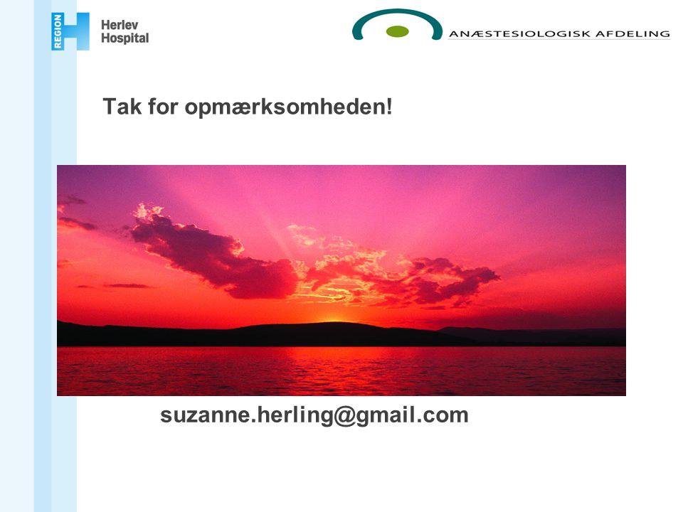Tak for opmærksomheden! Kontakt: suzanne.herling@gmail.com
