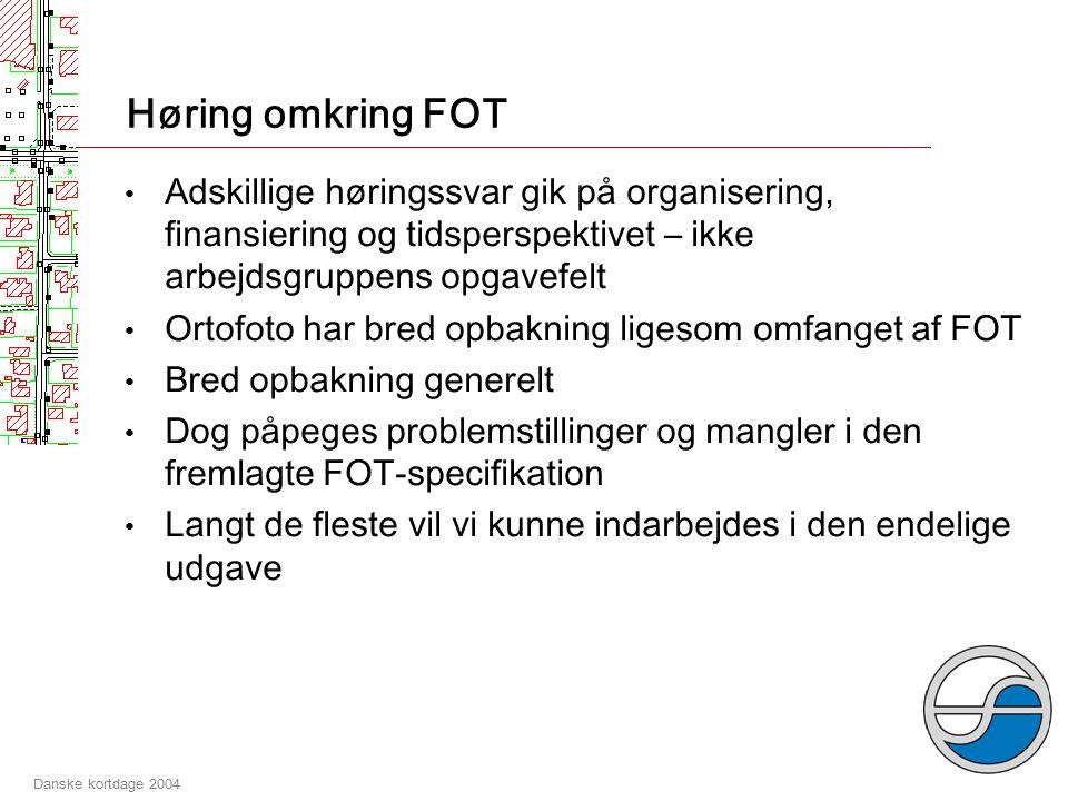 Danske kortdage 2004 Specifikation af FOT - tidsforløb 11.