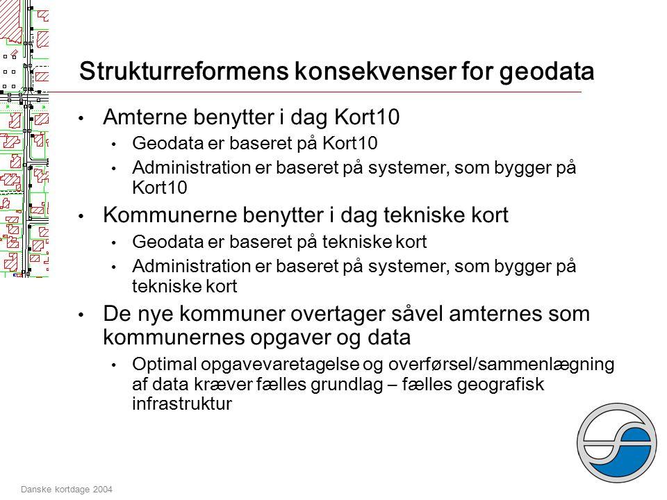 Danske kortdage 2004 Strukturreformens udfordringer Fælles administrationsgrundlag: Sådan vil vi helst ikke have det!