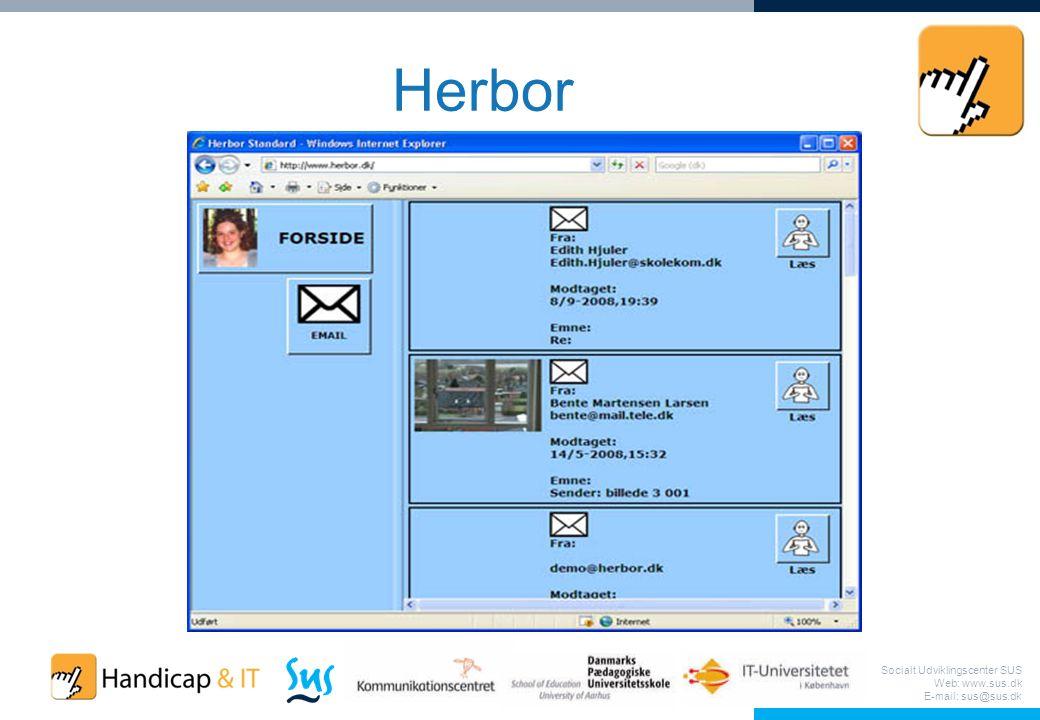 Socialt Udviklingscenter SUS Web: www.sus.dk E-mail: sus@sus.dk Herbor