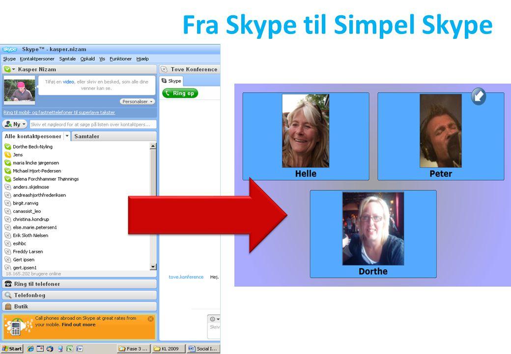 Fra Skype til Simpel Skype