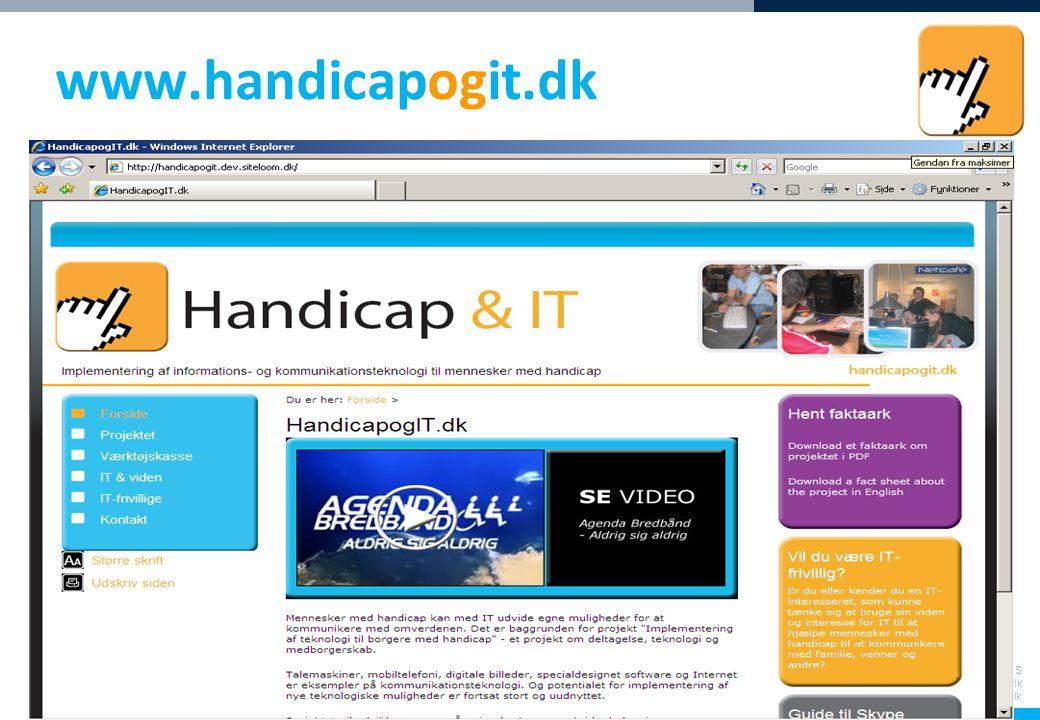 Socialt Udviklingscenter SUS Web: www.sus.dk E-mail: sus@sus.dk www.handicapogit.dk