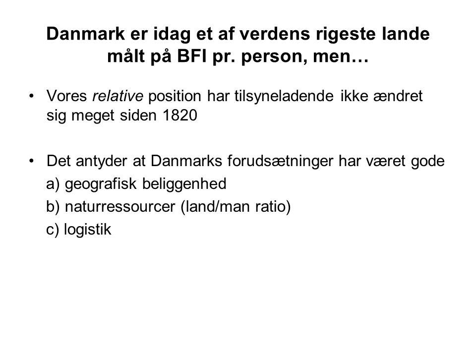 Danmark er idag et af verdens rigeste lande målt på BFI pr.