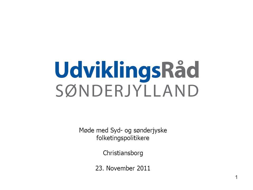Møde med Syd- og sønderjyske folketingspolitikere Christiansborg 23. November 2011 1