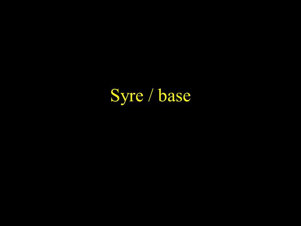 Syre / base