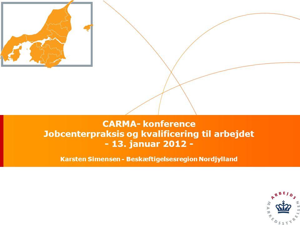 CARMA- konference Jobcenterpraksis og kvalificering til arbejdet - 13.
