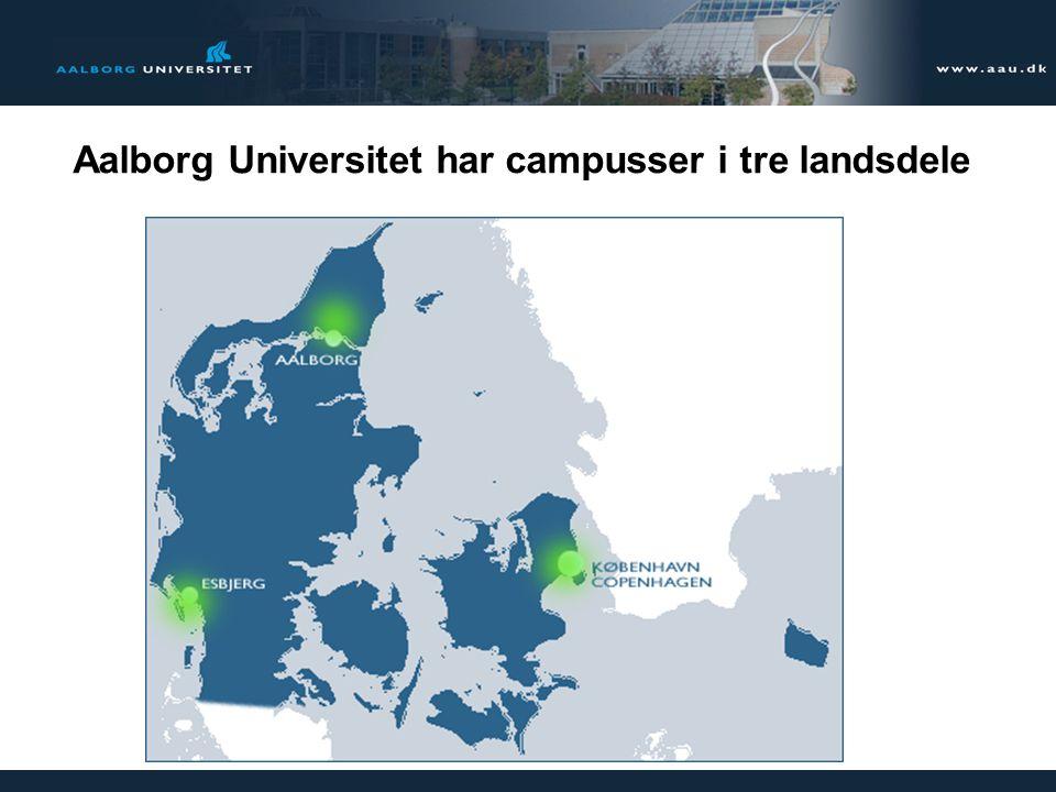 8 Aalborg Universitet har campusser i tre landsdele