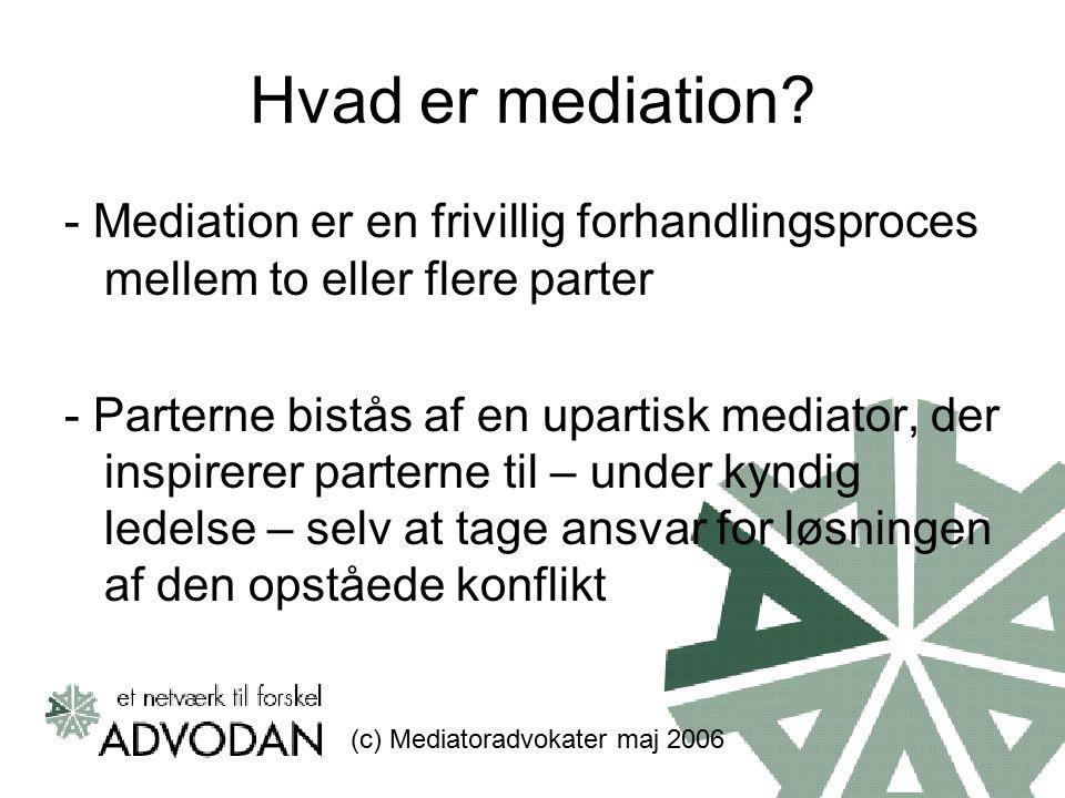 Hvad er mediation.