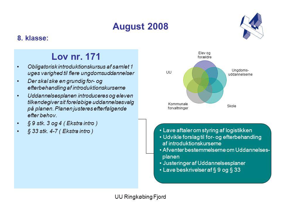 UU Ringkøbing Fjord August 2008 Lov nr.