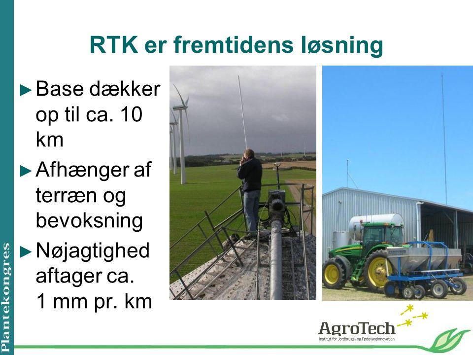 RTK er fremtidens løsning ► Base dækker op til ca.