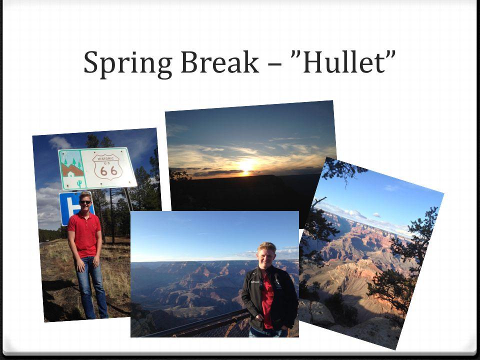 Spring Break – Hullet