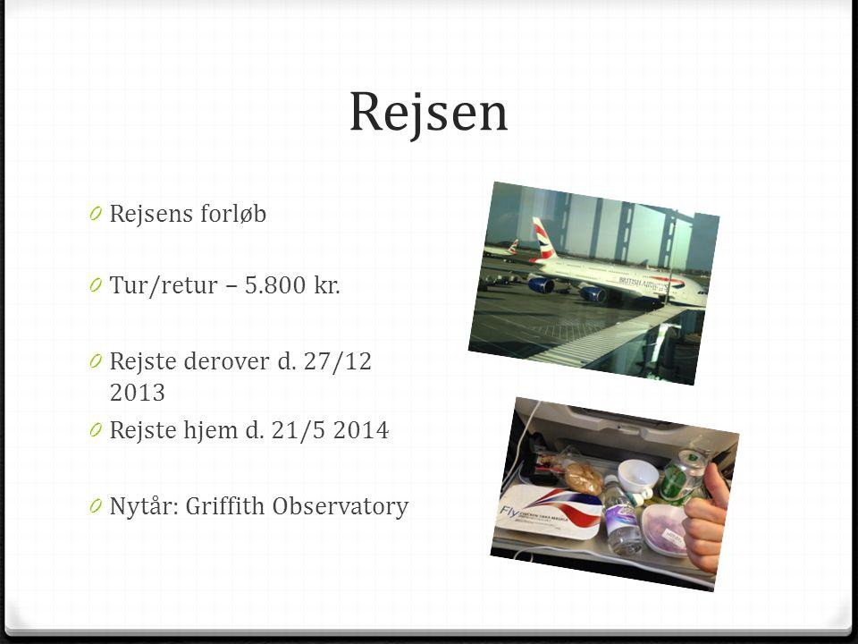 Rejsen 0 Rejsens forløb 0 Tur/retur – 5.800 kr. 0 Rejste derover d.