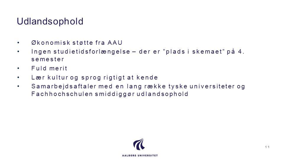 Økonomisk støtte fra AAU Ingen studietidsforlængelse – der er plads i skemaet på 4.