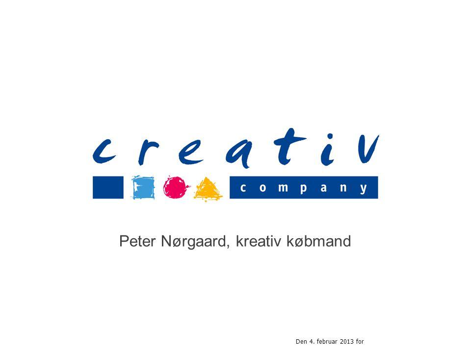Peter Nørgaard, kreativ købmand Den 4. februar 2013 for