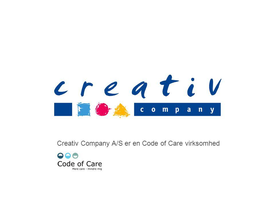 Creativ Company A/S er en Code of Care virksomhed