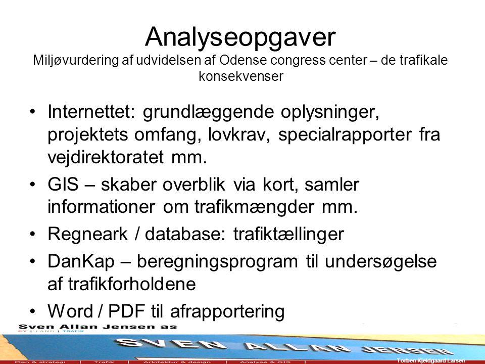 Analyseopgaver Miljøvurdering af udvidelsen af Odense congress center – de trafikale konsekvenser Internettet: grundlæggende oplysninger, projektets omfang, lovkrav, specialrapporter fra vejdirektoratet mm.