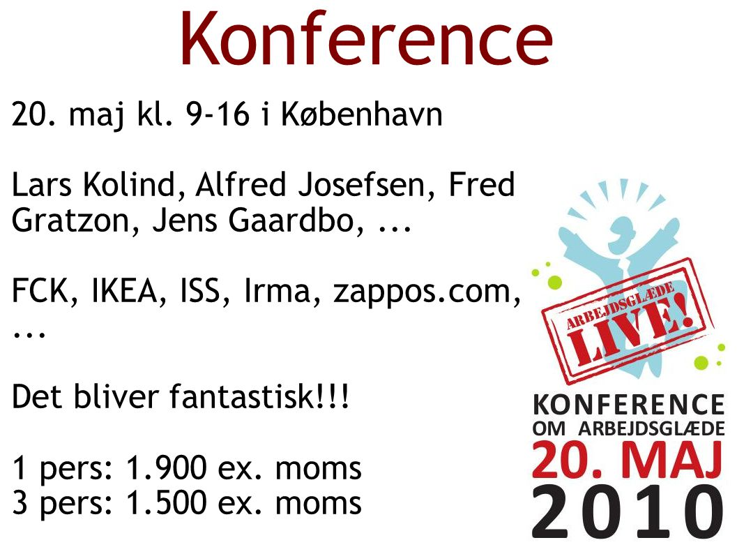 Konference 20. maj kl.