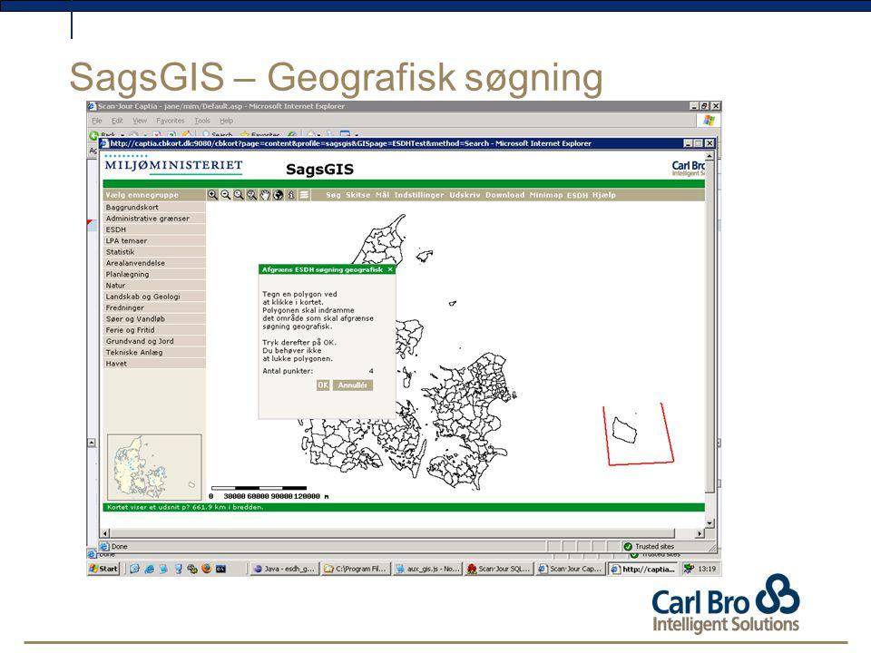 SagsGIS – Geografisk søgning