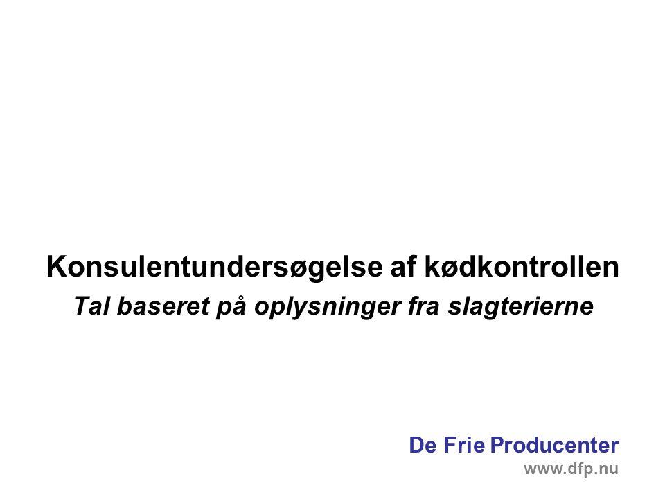 Konsulentundersøgelse af kødkontrollen Tal baseret på oplysninger fra slagterierne De Frie Producenter www.dfp.nu