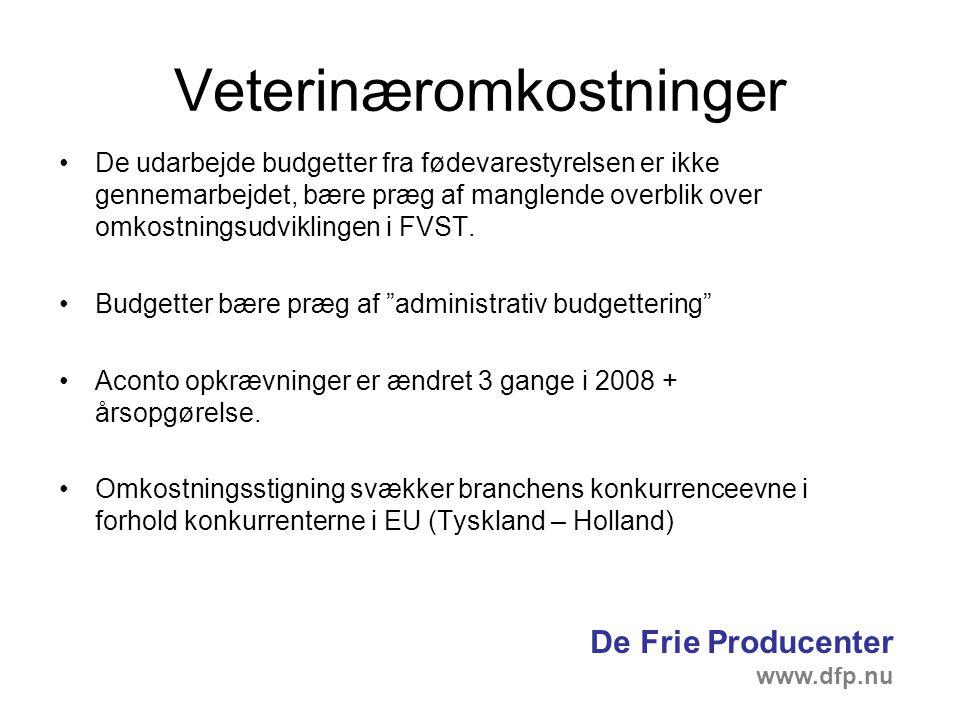 Veterinæromkostninger De udarbejde budgetter fra fødevarestyrelsen er ikke gennemarbejdet, bære præg af manglende overblik over omkostningsudviklingen i FVST.
