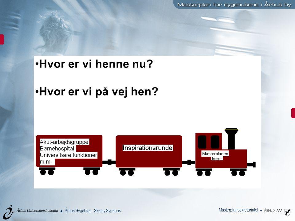 Århus Sygehus – Skejby Sygehus Masterplansekretariatet Hvor er vi henne nu Hvor er vi på vej hen