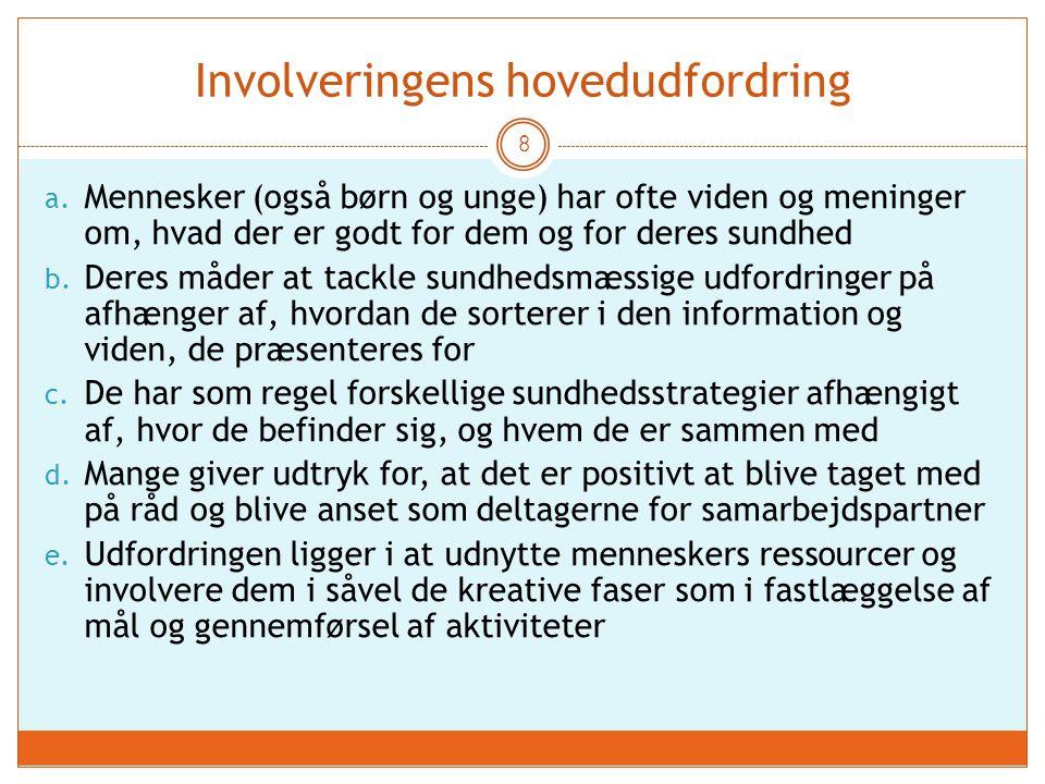 Involveringens hovedudfordring 8 a.
