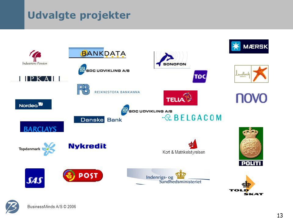 BusinessMinds A/S © 2006 13 Udvalgte projekter Kort & Matrikelstyrelsen