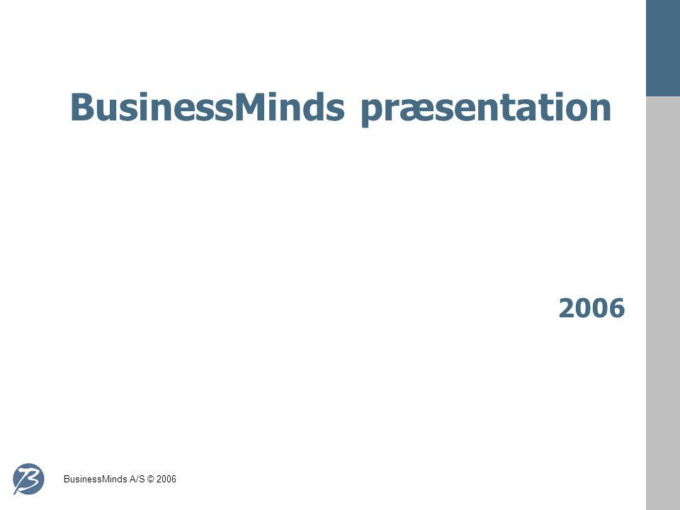 BusinessMinds A/S © 2006 BusinessMinds præsentation 2006