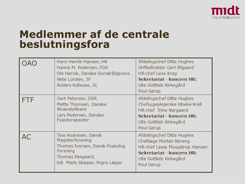 3 ▪ www.regionmidtjylland.dk Medlemmer af de centrale beslutningsfora OAO Hans Henrik Hansen, HK Hanne M.