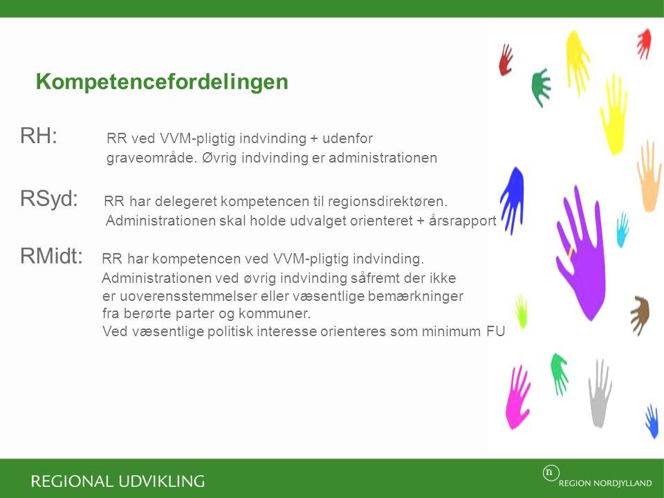 Kompetencefordelingen RH: RR ved VVM-pligtig indvinding + udenfor graveområde.