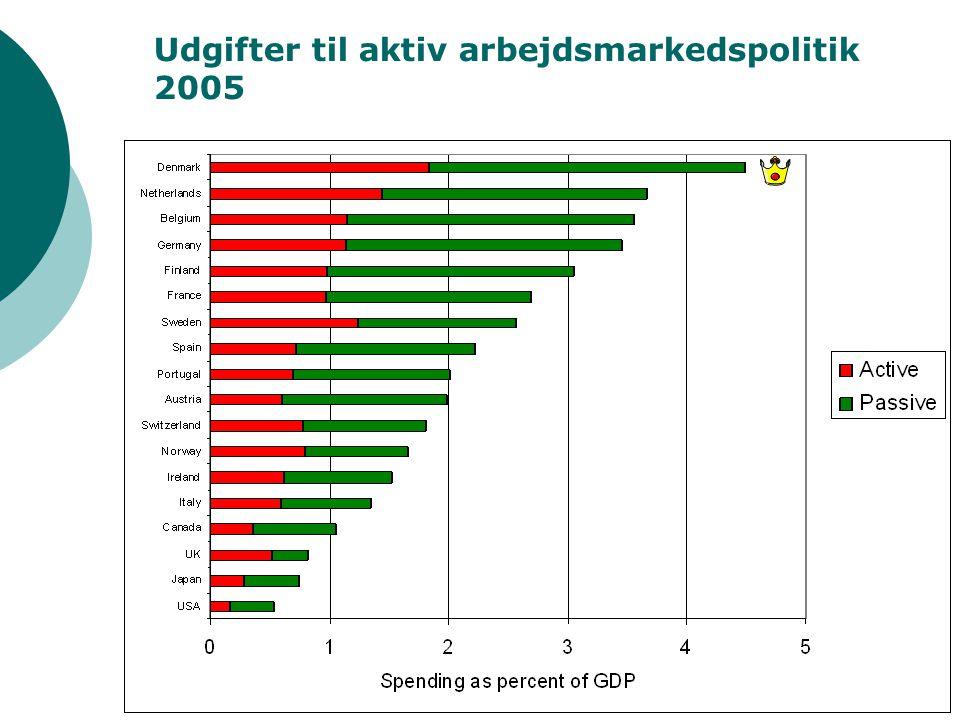 14 Udgifter til aktiv arbejdsmarkedspolitik 2005