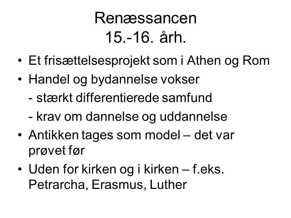 Renæssancen 15.-16. årh.