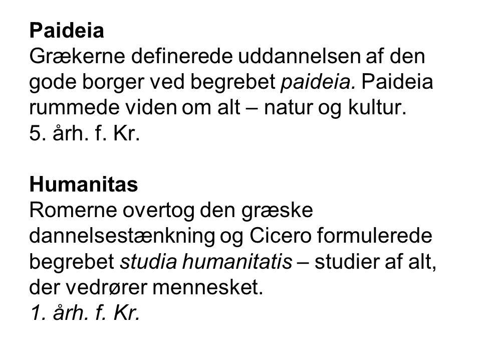 Paideia Grækerne definerede uddannelsen af den gode borger ved begrebet paideia.