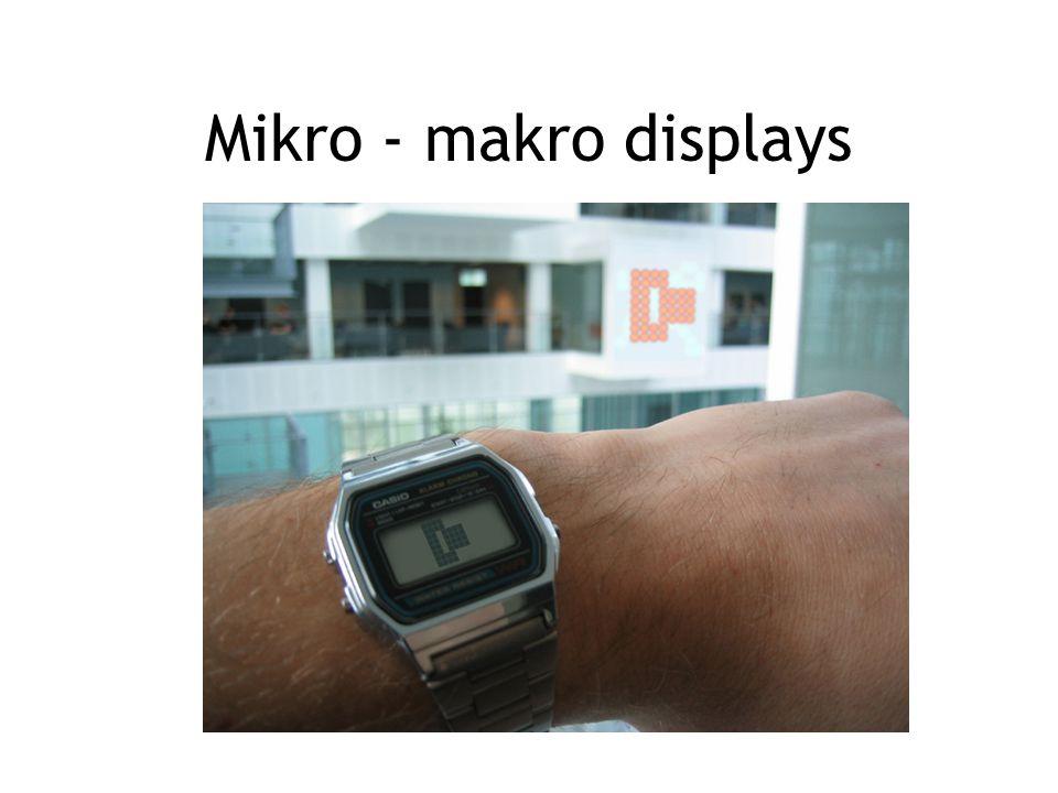 Mikro - makro displays