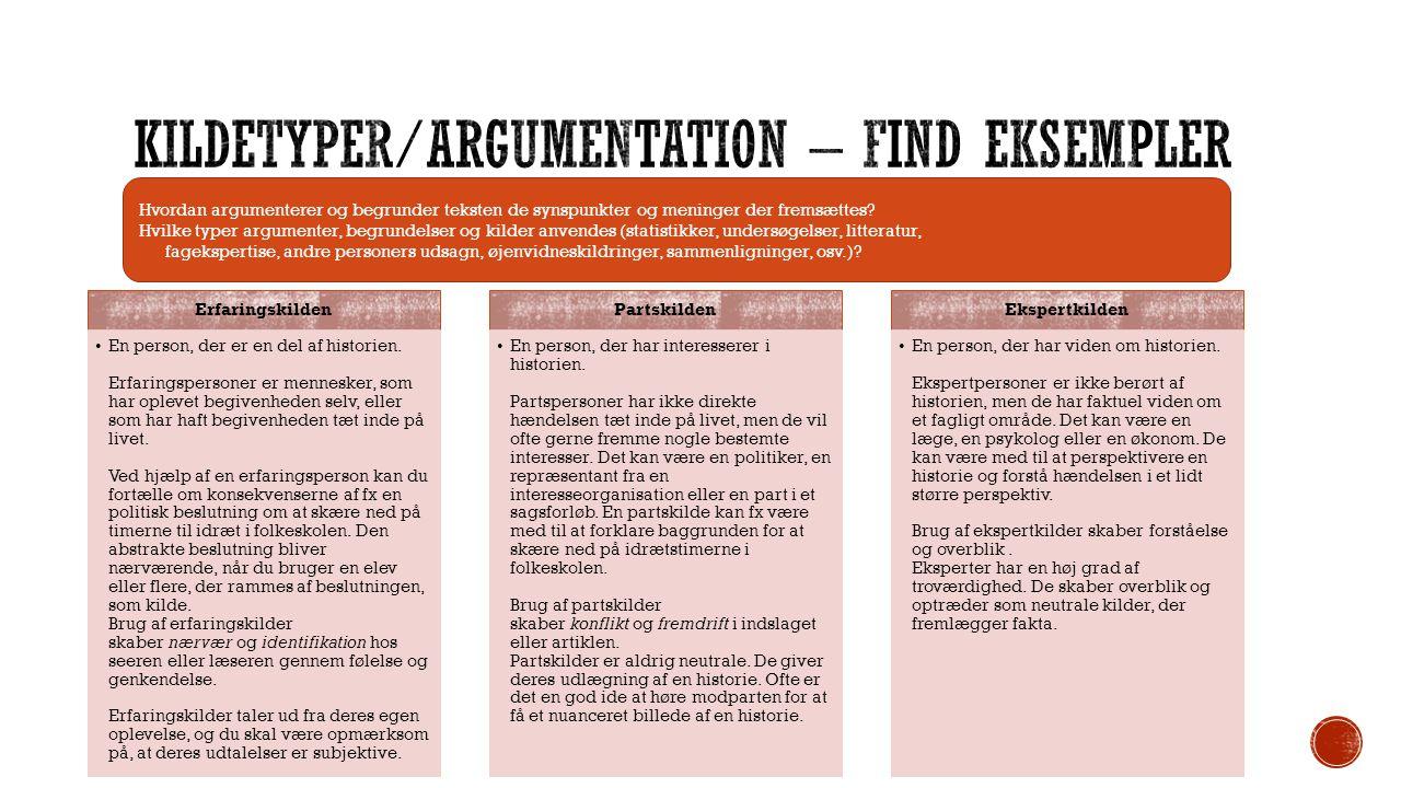 Emne Beskriv kort og præcist det grundlæggende emne (emner) som teksten egentlig handler om.