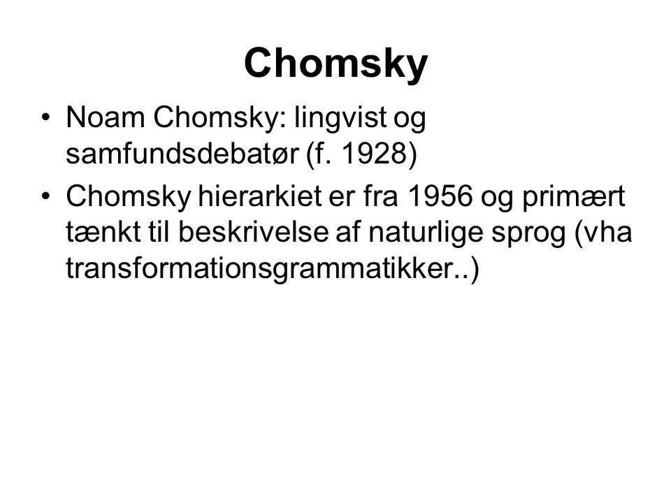 Chomsky Noam Chomsky: lingvist og samfundsdebatør (f.