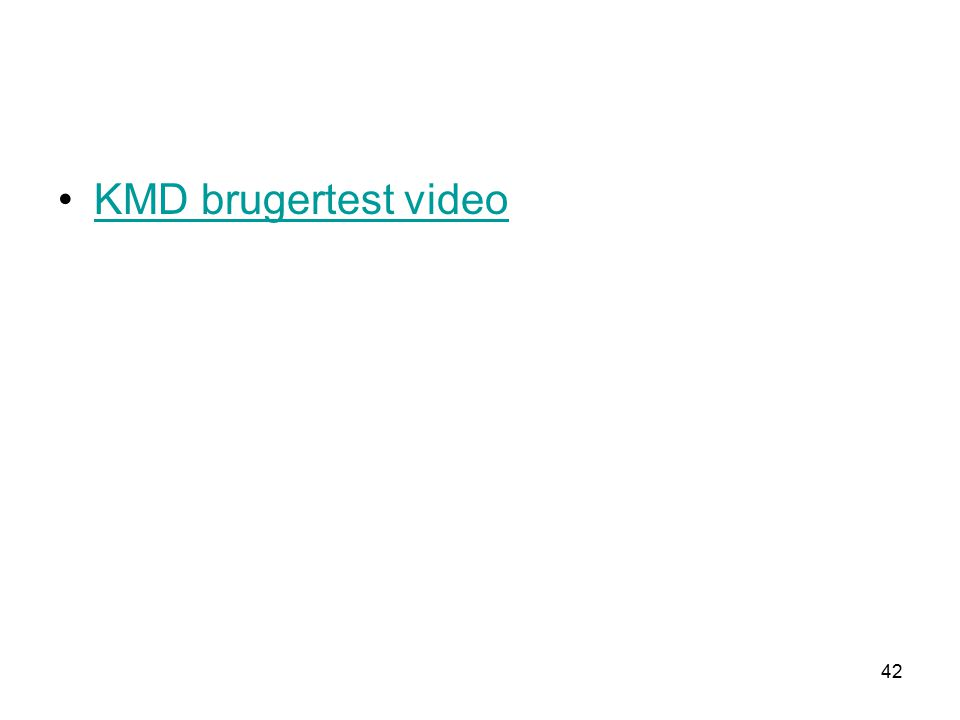 42 KMD brugertest video