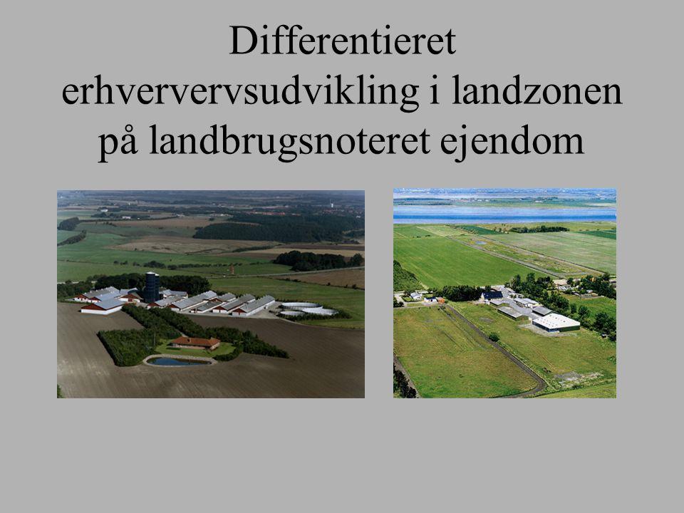 Differentieret erhververvsudvikling i landzonen på landbrugsnoteret ejendom