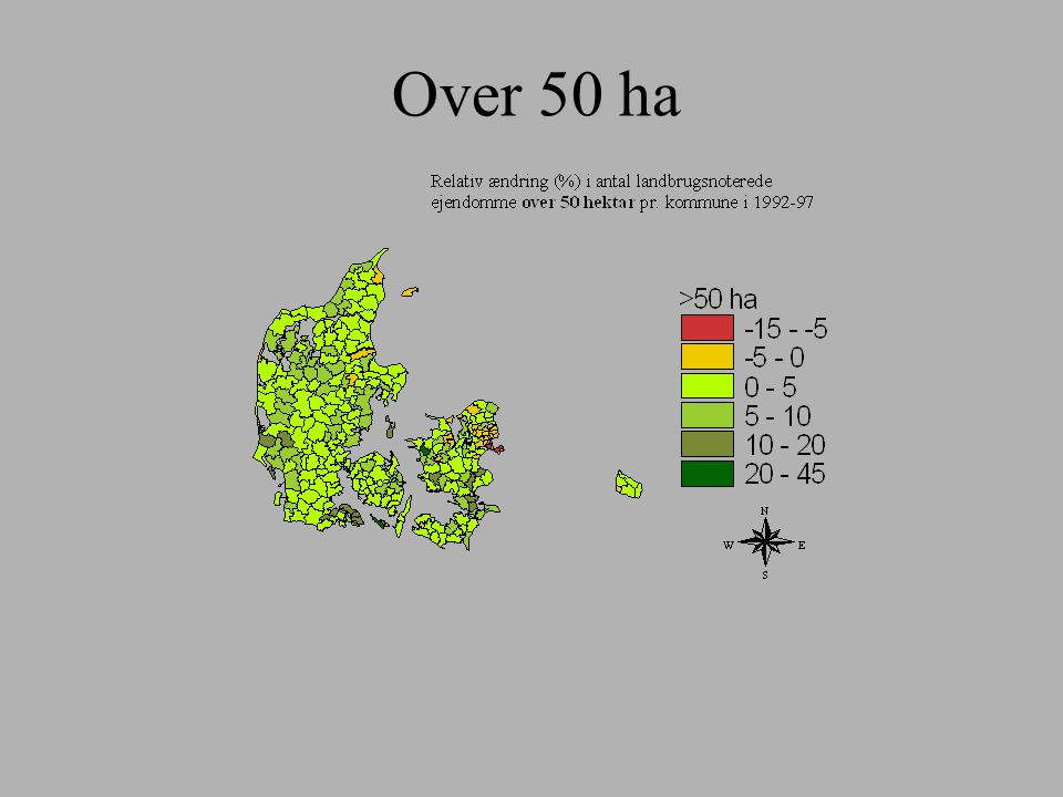 Over 50 ha