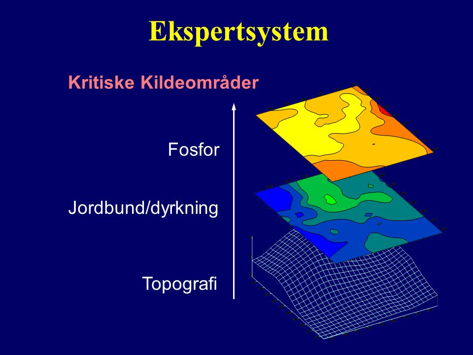 Ekspertsystem Topografi Fosfor Jordbund/dyrkning Kritiske Kildeområder