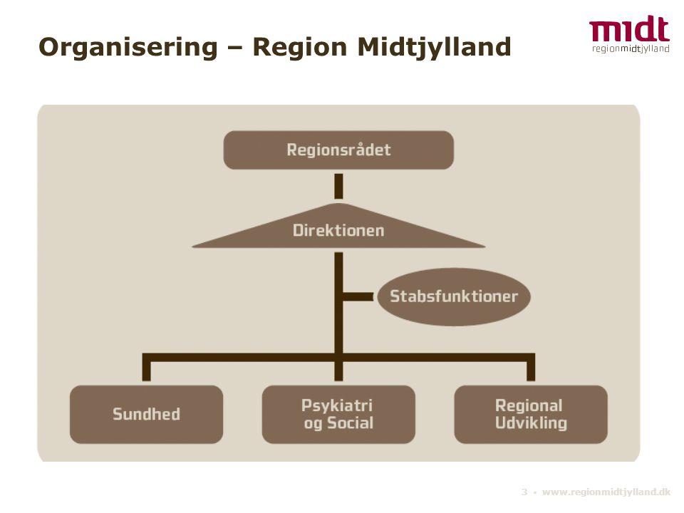 3 ▪ www.regionmidtjylland.dk Organisering – Region Midtjylland