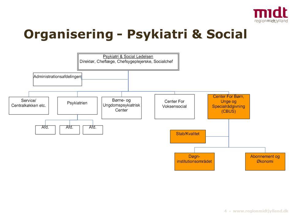 4 ▪ www.regionmidtjylland.dk Organisering - Psykiatri & Social