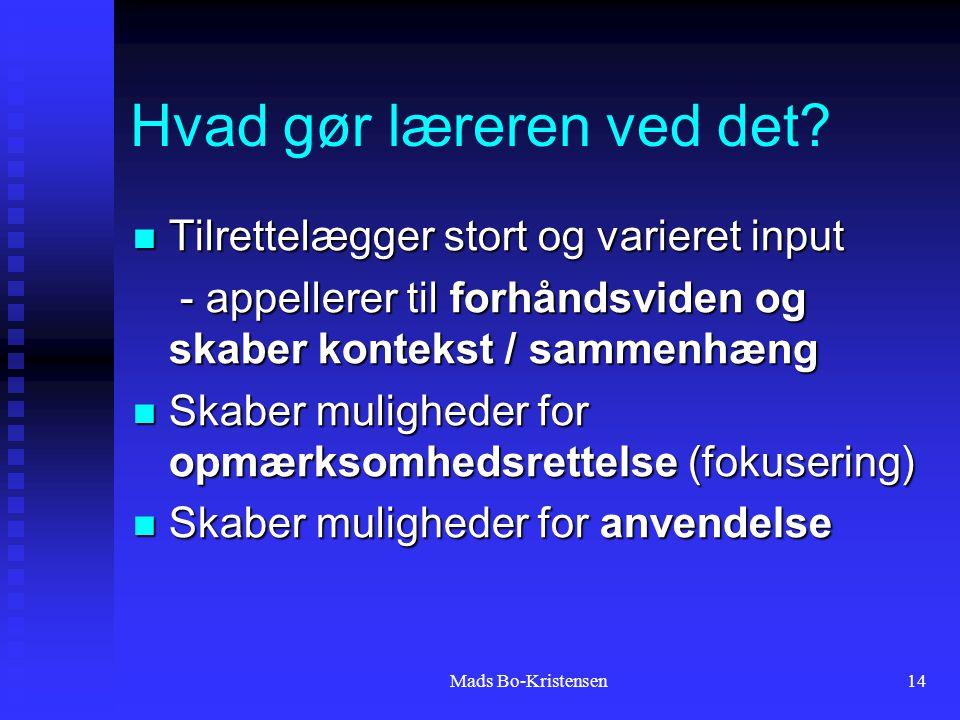Mads Bo-Kristensen14 Hvad gør læreren ved det.