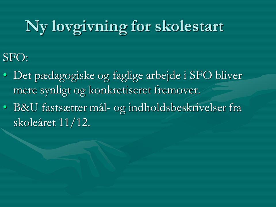 Ny lovgivning for skolestart SFO: Det pædagogiske og faglige arbejde i SFO bliver mere synligt og konkretiseret fremover.Det pædagogiske og faglige arbejde i SFO bliver mere synligt og konkretiseret fremover.