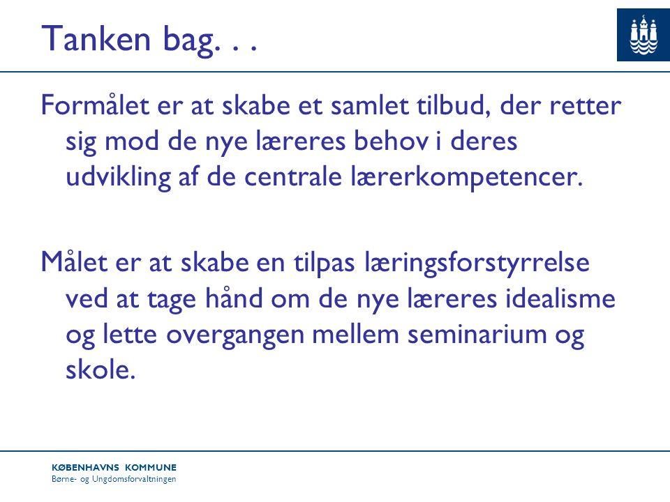 KØBENHAVNS KOMMUNE Børne- og Ungdomsforvaltningen Tanken bag...