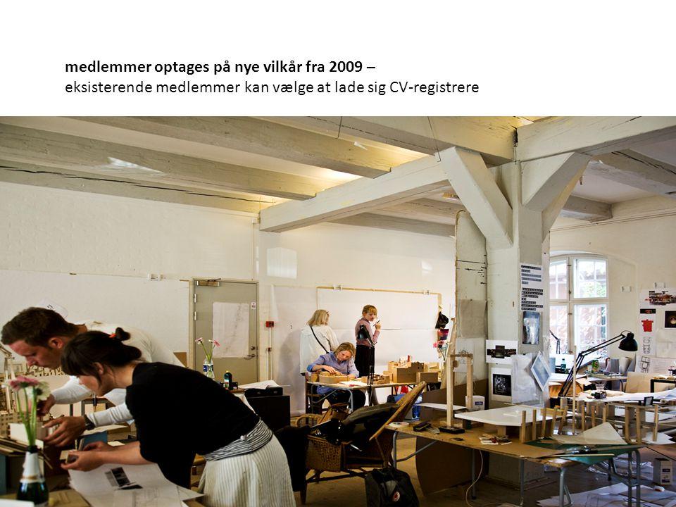 medlemmer optages på nye vilkår fra 2009 – eksisterende medlemmer kan vælge at lade sig CV-registrere