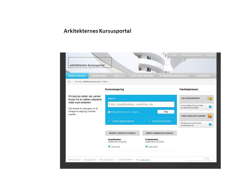 Arkitekternes Kursusportal