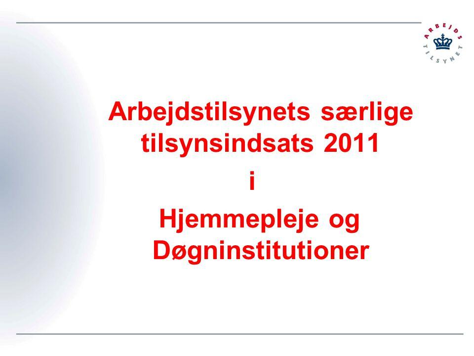 Arbejdstilsynets særlige tilsynsindsats 2011 i Hjemmepleje og Døgninstitutioner