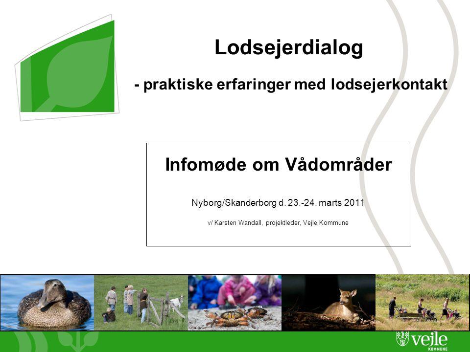 Side 1 Lodsejerdialog - praktiske erfaringer med lodsejerkontakt Infomøde om Vådområder Nyborg/Skanderborg d.