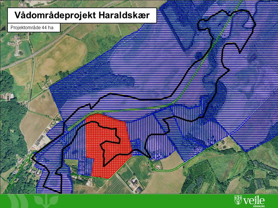 Side 4 Vådområdeprojekt Haraldskær Projektområde 44 ha